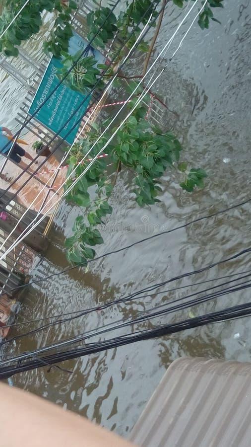 Inundación en Tailandia foto de archivo libre de regalías