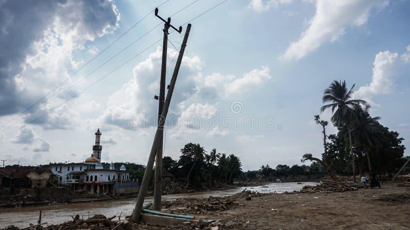Inundación repentina en Banten, Indonesia fotografía de archivo