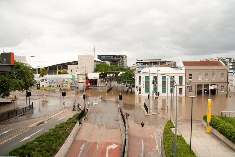 Inundaciones de Brisbane: Brisbane del sur foto de archivo