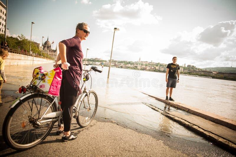 Inundaciones de Budapest fotografía de archivo libre de regalías