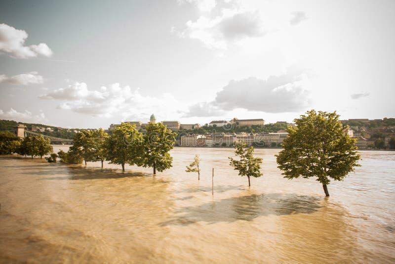 Inundaciones de Budapest imagen de archivo libre de regalías