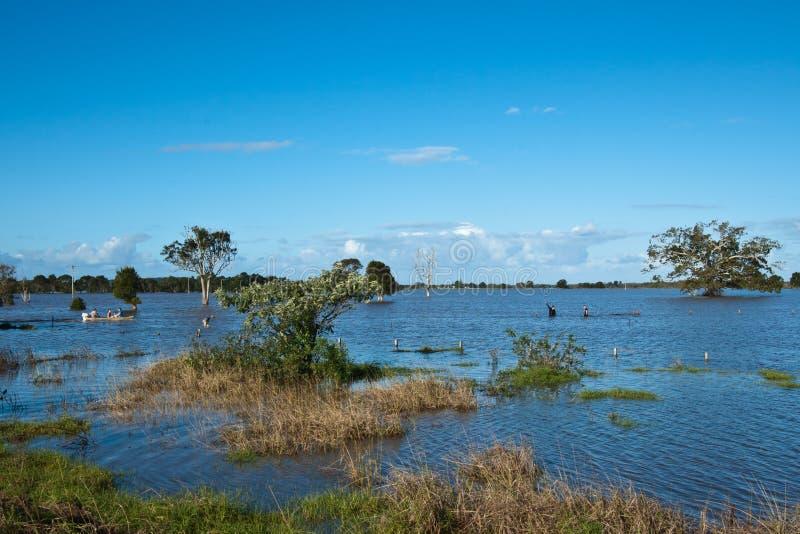 Inundaciones de Taree imagen de archivo