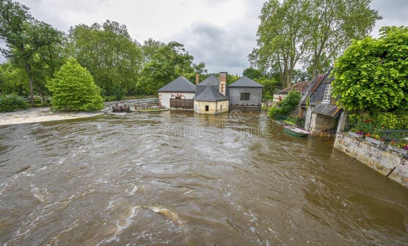 Inundaciones del verano fotos de archivo