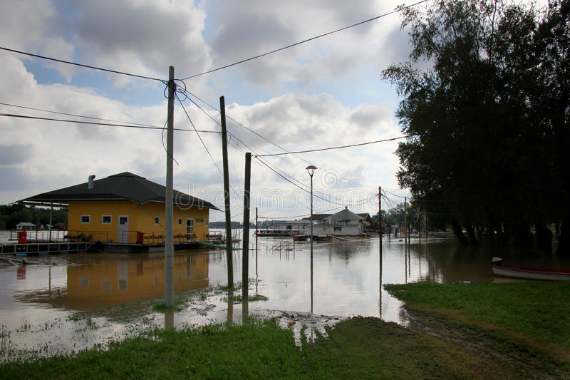 Inundaciones en Belgrado fotos de archivo