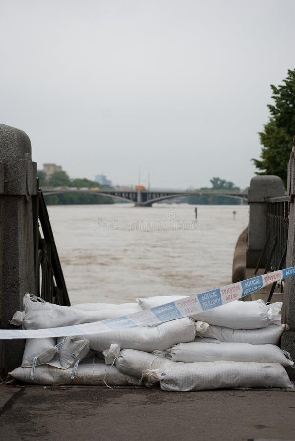 Inundaciones en Praga, el 4 de junio de 2013 imagen de archivo libre de regalías