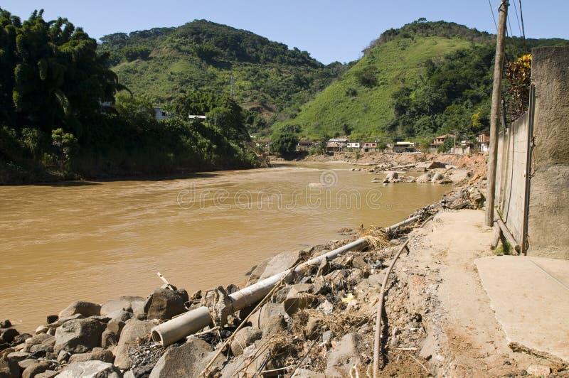 Inundando em Rio de Janeiro, Brasil imagem de stock