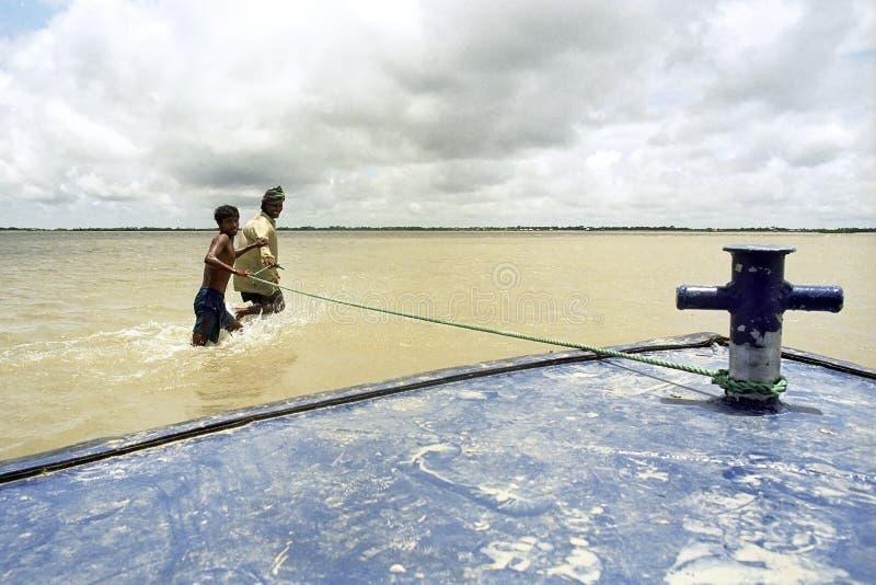 Inundando en el delta Bangladesh, cambios de clima fotos de archivo