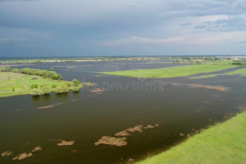 Inundando no delta de Volga, Rússia fotos de stock royalty free