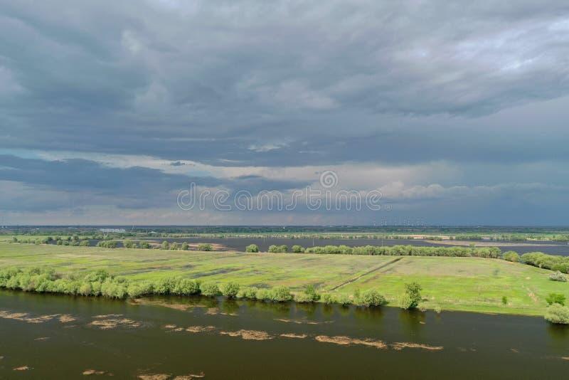 Inundando no delta de Volga, Rússia foto de stock royalty free