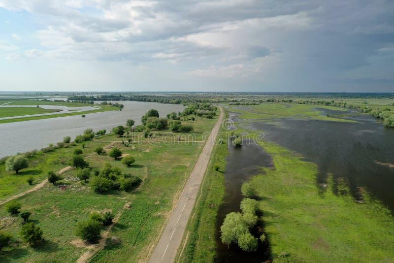 Inundando no delta de Volga, Rússia fotos de stock
