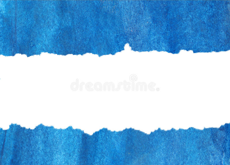 Inundation of blue water-colour on a white. vector illustration