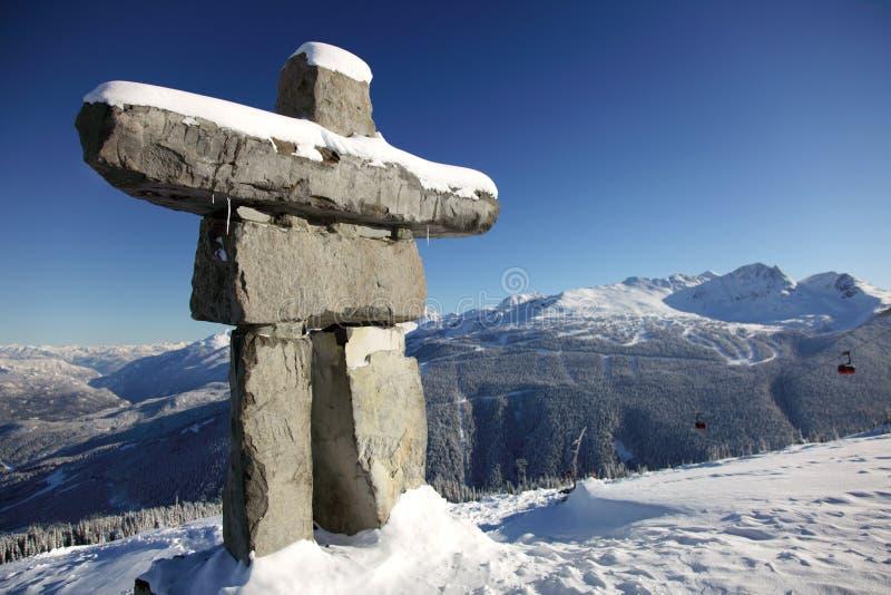 inunnguac wysokogórski błękitny niebo fotografia royalty free