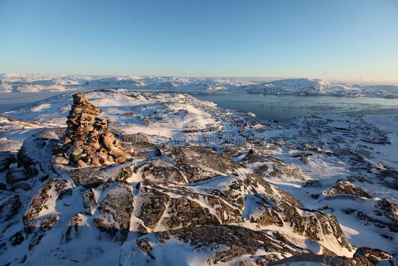 Inussuk in Qaqortoq Grönland stockbilder
