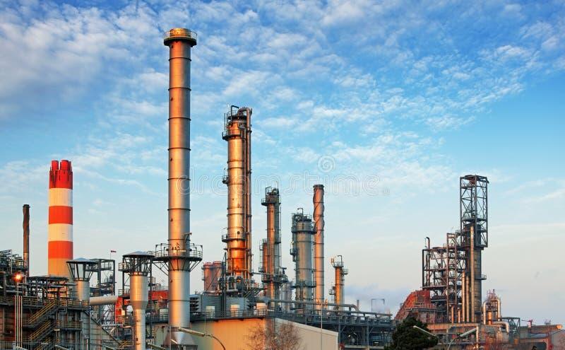 Inustry - rafineria ropy naftowej, zakład petrochemiczny fotografia stock