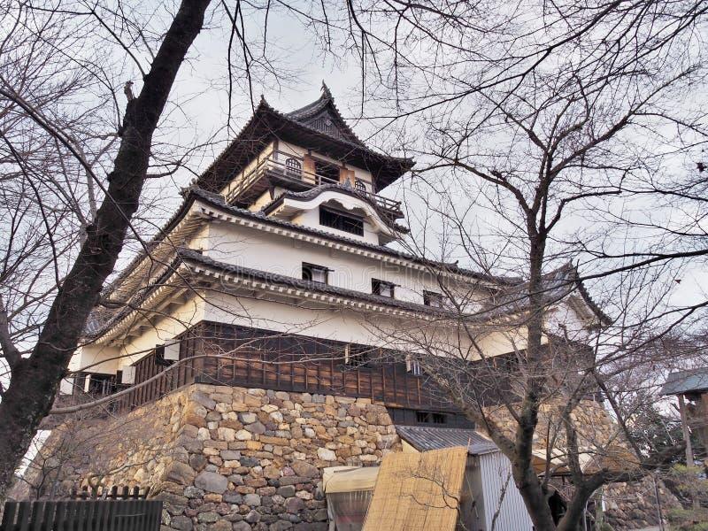 Inuyama kasztel w mieście Inuyama, Aichi prefektura, Japonia obraz royalty free