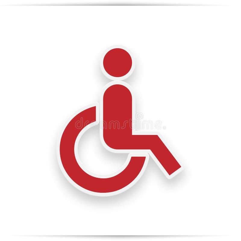 Inválido - ícone vermelho com sombra ilustração do vetor