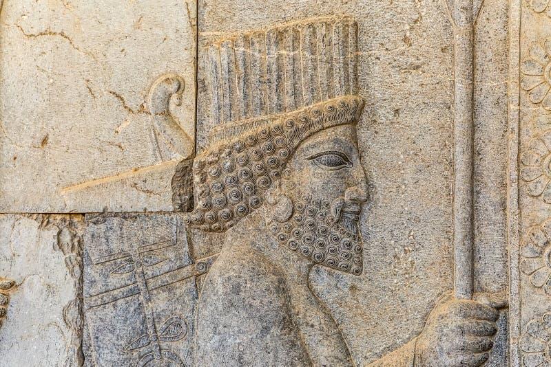 Invånare av historisk välde i Persepolis royaltyfri foto