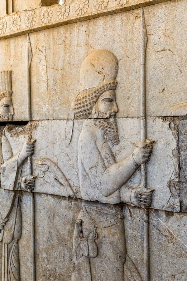 Invånare av historisk välde i Persepolis arkivbilder