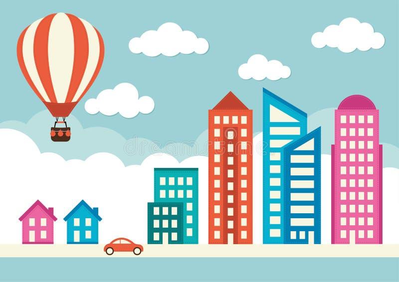 Invånare av staden vektor illustrationer
