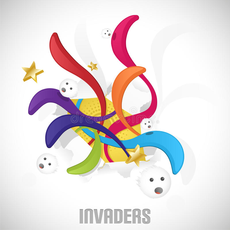 Download Invaders. stock vector. Image of beautiful, artwork, design - 17170126