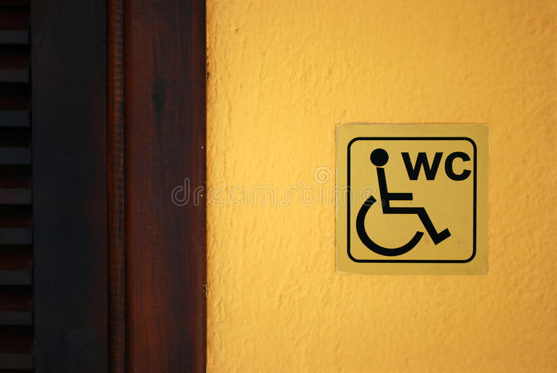 WC Label Royalty Free Stock Image