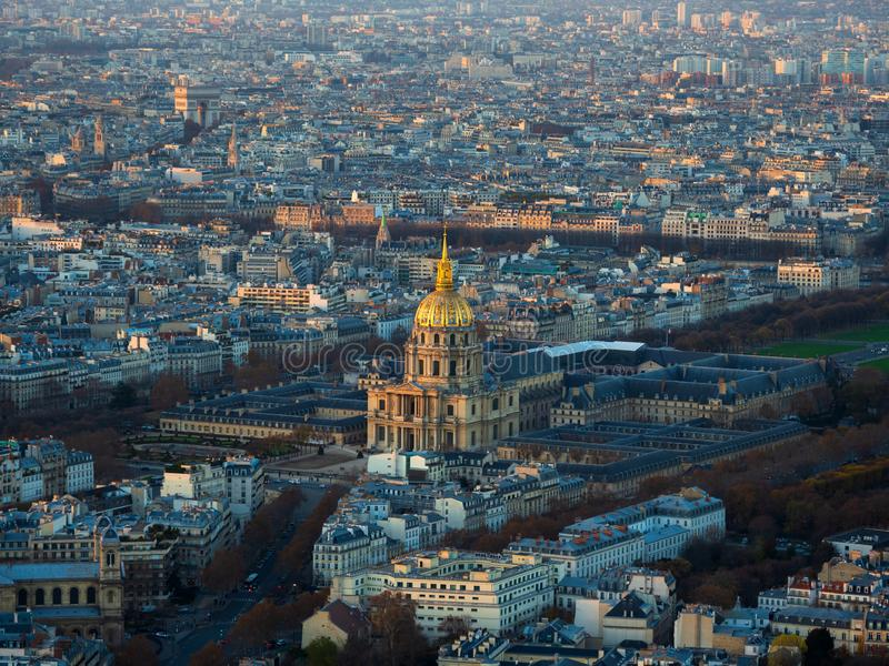Invalides em Paris França foto de stock