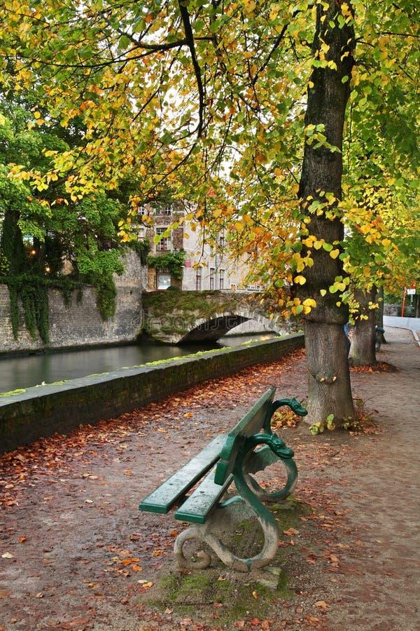 Invallning i Bruges flanders _ fotografering för bildbyråer