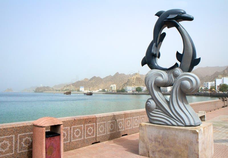 Invallning i Muscat. Oman. arkivfoto