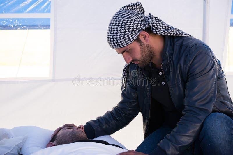 Invandrare från Gaza - Sverige 2015 fotografering för bildbyråer