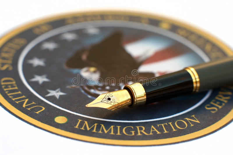 invandring royaltyfri bild