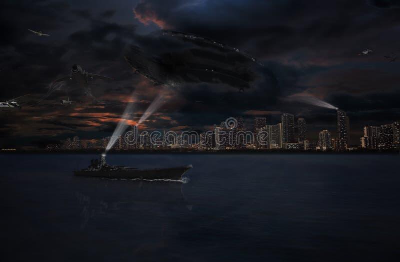 invasão da foto de miami ilustração stock