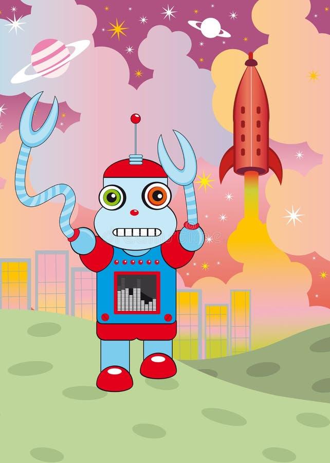 Invasão do robô ilustração stock