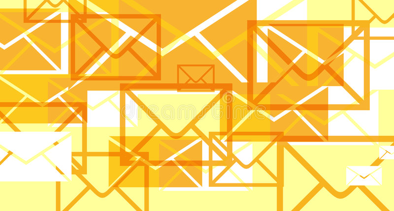 Invasões dos email ilustração do vetor