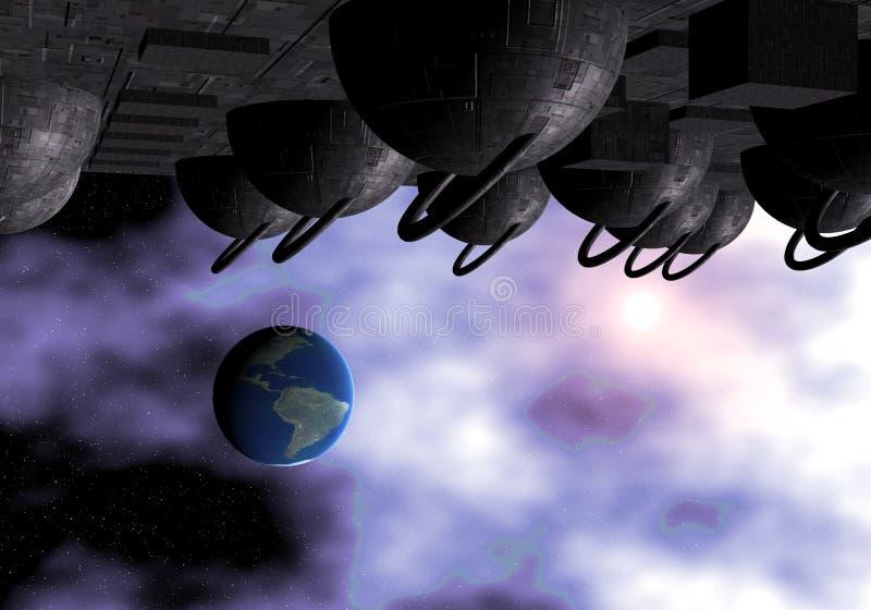 Download Invasión stock de ilustración. Ilustración de universo - 1292360