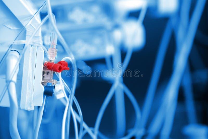 Invasief metend systeem voor bloeddruk controle in ICU royalty-vrije stock foto