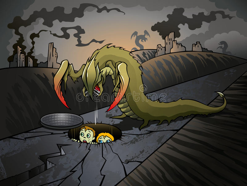 Invasion apocalyptique illustration stock