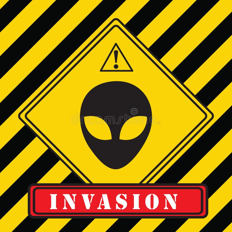 Invasion av främlingar royaltyfri illustrationer