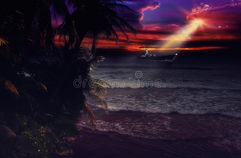 Invasion d'océan image stock