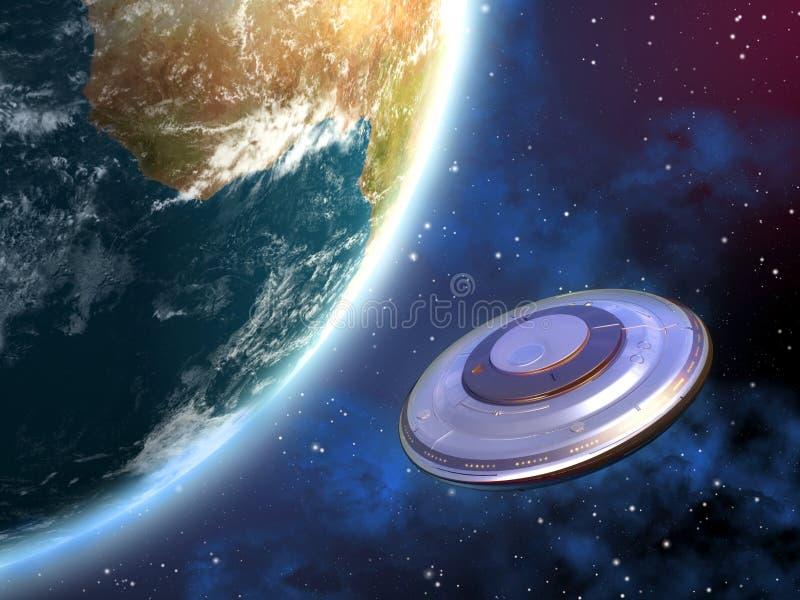 Invasion d'UFO illustration de vecteur
