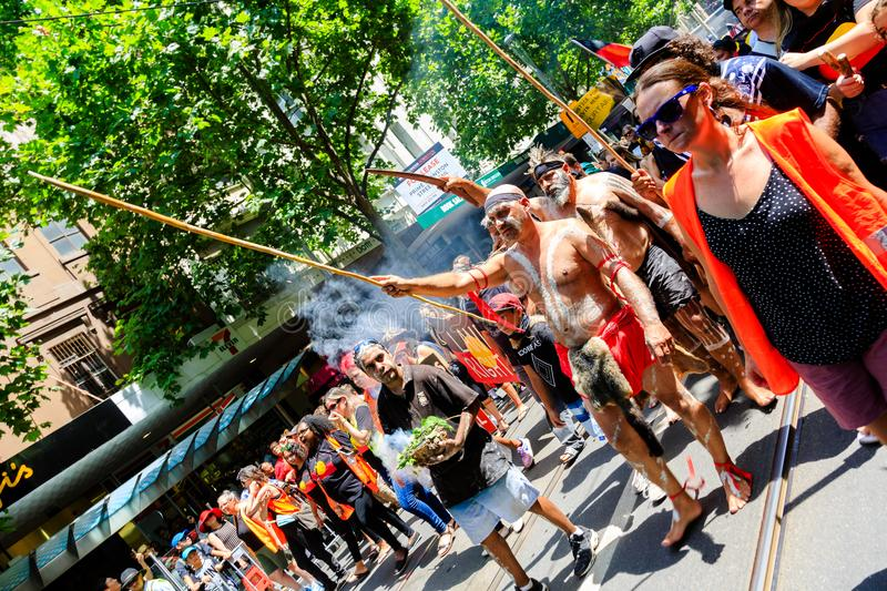 Download Invasion Day Australia Day Protests In Melbourne Editorial Stock Image - Image of news, invasion: 108771399