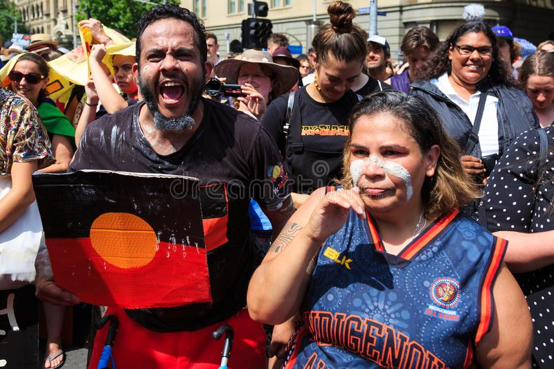 Download Invasion Day Australia Day Protests In Melbourne Editorial Stock Photo - Image of invasion, public: 108771343