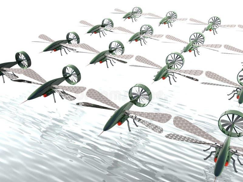 Invasion de bourdon illustration libre de droits