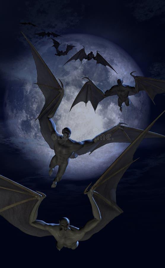 Invasion des créatures de 'bat' illustration libre de droits