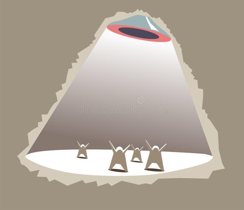 Invasion von UFO_o lizenzfreie abbildung
