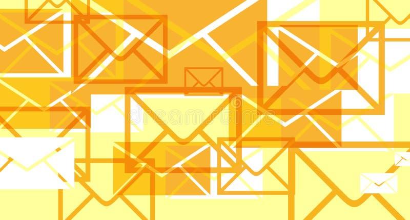 Invasiones de los email ilustración del vector