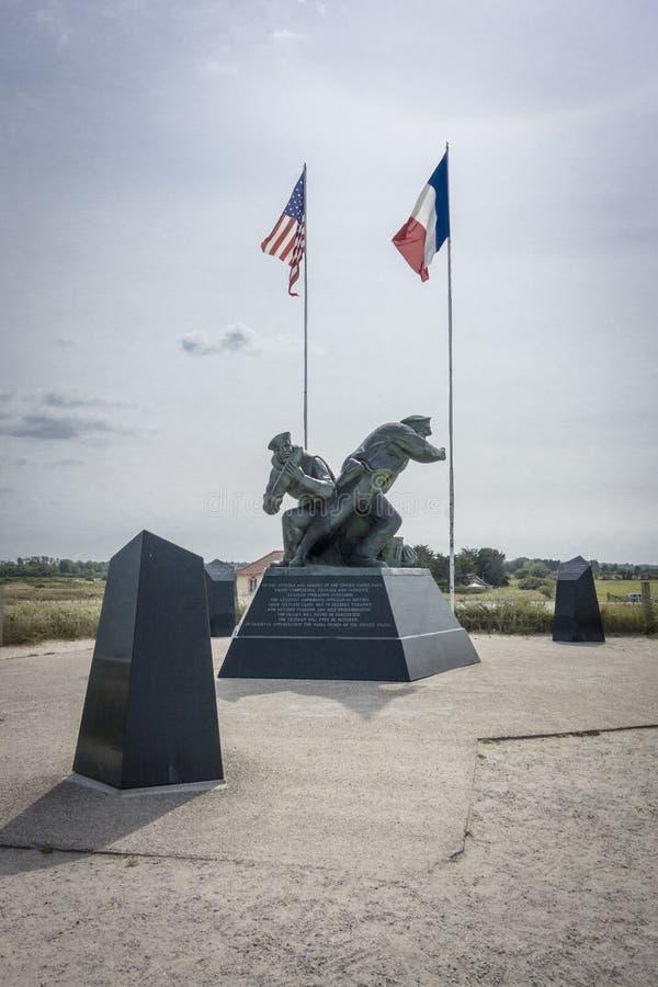 Invasionstag-Denkmal, Utah-Strand, Normandie, Frankreich stockfotos