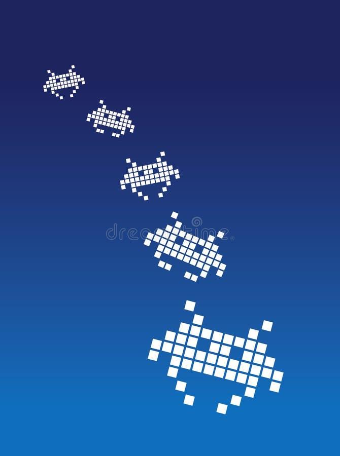 Invasores do espaço ilustração stock