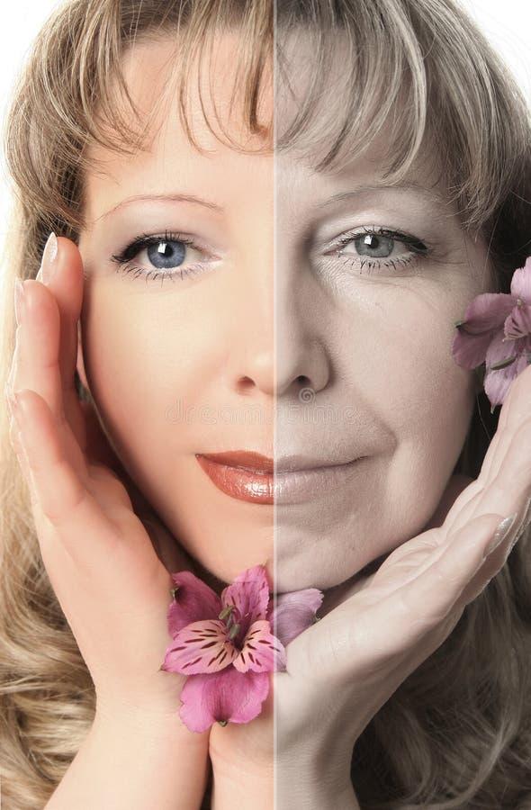 Invecchiamento fotografie stock