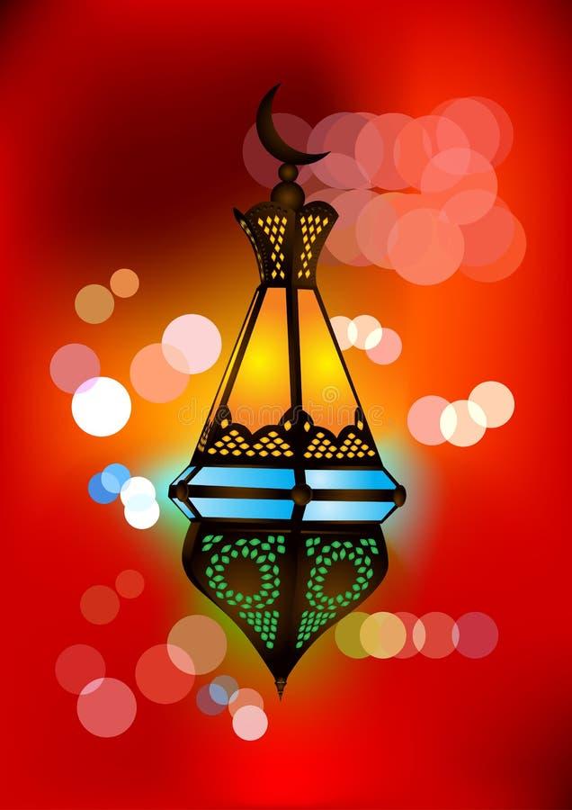invecklad lampa för arabisk illustration vektor illustrationer