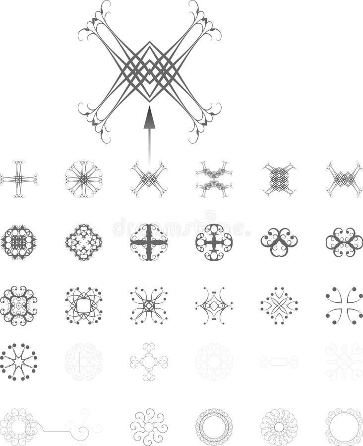 invecklade former vektor illustrationer